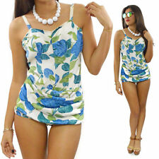 Vintage 50s Carol Brent Pinup One-Piece Floral Swimsuit