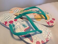 HAVAIANAS Size 1 - 2 GIRLS Disney Tinkerbell Flip Flops Sandals Shoes NEW Cute