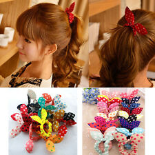 10pcs Fashion Cute Hair Tie Band Ponytail Holder Elastic Rubber Women Girl