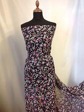 "NEW Designer Multicolour Floral Chiffon Print Fabric 59""151cm Tutii Dress Craft"