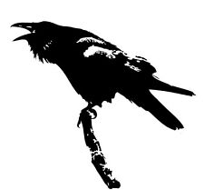 """12"""" Raven's Call Gloss Vinyl Car Sticker, Decal   Raven Sticker   Pagan Sticker"""