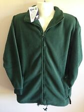 BNWT Mens Sz M or Ladies Sz 16 LW Reid Brand Bottle Green Polar Fleece Jacket