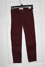 BNWTS ABERCROMBIE KIDS SZ 8  THE A&F JEGGING PANTS GIRLS BURGANDY