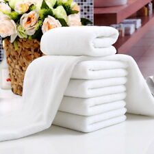 1 x New White Soft Cotton Hotel Bath Towel Washcloths Travel Hand Towels Useful