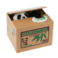 Cute Lovely Automated Stealing Coins Panda Saving Money Box Piggy Bank Best Gift