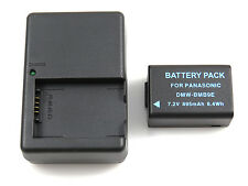 Charger DE-A83 and Battery DMW-BMB9 for Panasonic DMC-FZ40K DMC-FZ45K DMC-FZ47K