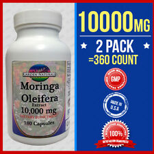 2 Pack Moringa Oleifera Extract 10,000mg =360 Caps Herb Anti-Aging+More Benefits