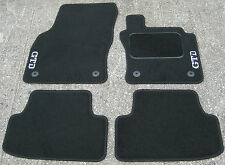 "Car Mats in Black to fit VW Golf Mk7 (2013 on) + Silver ""GTD"" Logos"