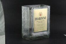 DISARONNO AMARETTO  GLASS MADE FROM ORIGINAL 1 LITER BOTTLE