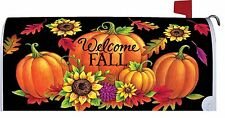 Pumpkin Sunflower Welcome Fall Magnetic Mailbox Cover