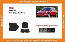 pellicola oscurante vetri pre tagliata mini cooper dal 2002 al 2006 kit completo