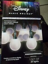 CHRISTMAS DISNEY MAGIC HOLIDAY MICKEY MOUSE SHIMMERING MAGIC LED LIGHT STRING