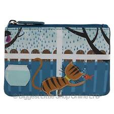 NEW Mens Ladies Leather Ginger Tabby Cat Coin Purse by Mala Zipped Handy Cute