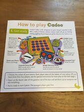 Instrucciones de juego Cadoo
