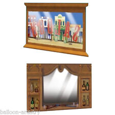 Wild West Saloon Bar Scene Setter Add-ons WINDOW MIRROR Decoration