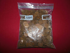 OVER 1000 MIXED WHEAT CENTS: 7 LBS OF COINS