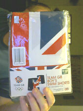 TEAM GB 2016 BRAZIL OLYMPICS BOY'S SWIM SHORTS  AGES 9-10 FREE XMAS UK POST