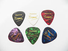 BEYONCE KNOWLES full set of signature stamped printed plectrum guitar picks med