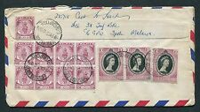 1955 Malaya + Singapore Mixed stamps on Forces cover ($1.50)  Ipoh Pmk to BAPO/5
