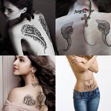 4 Sheet Big Temporary Tattoos Large Angel Wings Fake Tatoo Sticker for Men Women