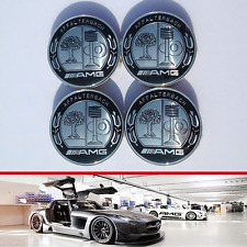 MERCEDES AMG MONOCHROME AFFALTERBACH EMBLEM ALLOY WHEELS CENTER HUB CAPS  75mm