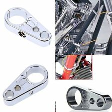 "Chrome Brake Clutch  Alloy Cable Part Clamp Clip For 1"" 25mm Bar Harley Davidson"