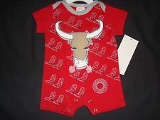 Boys Red Western Cowboy Onesie BULL with Cowboy Boots Sz 24 M 100% Cotton NWT