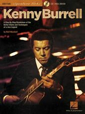 Kenny Burrell Signature Guitar Licks Learn to Play Jazz TAB Music Book & CD