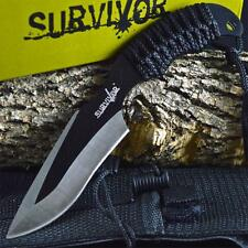 "7"" TACTICAL COMBAT Full Tang HUNTING SURVIVAL KNIFE Military BOWIE Fixed Blade"