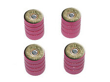 20 Gauge Bullet Shell (Image Only) Ammo Tire Rim Wheel Valve Stem Caps Pink