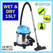 WET and DRY Vacuum Cleaner Hoover Blower 15L 1200W Workshop Home Car
