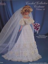 Paradise Crochet Collector Costume Fashion Doll Pattern Victorian Lace Bride #58
