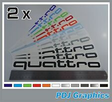 2 x Audi QUATTRO Side Decals/Stickers - Premium Quality Vinyl Audi A1