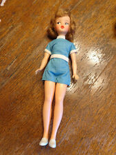 VINTAGE IDEAL TAMMY DOLL W/ PLAYSUIT & SHOES UNCOMBED HAIR BEAUTIFUL BS12 1