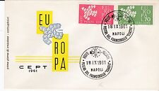 First day cover, Italy, Europa CEPT, Scott #809-10, 1961