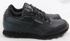 Reebok Classic All Black Leather Lace Up Running Sneaker Men's U.S. 5.5 (Wm's 7)