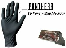 10 PAIRS OF MEDIUM BLACK PANTHERA LATEX TATTOO GLOVES