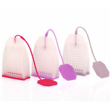New Bag Style Silicone Tea Strainer Herbal Spice Infuser Filter Diffuser EFC