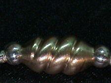 Superb Unique Spiral Twist 14kt Gold Beads 13 MM long 7MM Dia. 14kt GOLD !