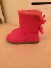 Ugg Australia Bailey Bow Boot In Cerise (Hot Pink), Size 4