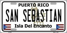 SAN SEBASTIAN Puerto Rico Novelty State Background Metal License Plate