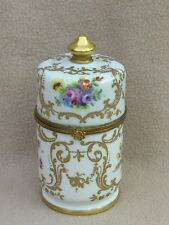 CONTINENTAL PARIS LE TALLEC PORCELAIN TABLE LIGHTER BOX HAND PAINTED