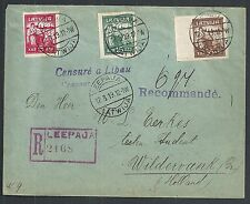 Latvia covers 1919 R-cover CENSURÉ a LIBAU to Wildervank