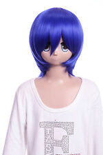 W-10-f11 Bleu Blue 33cm cosplay perruque wig perruque cheveux hair anime manga