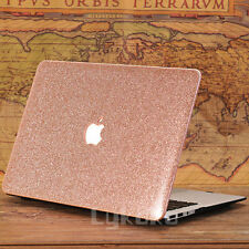 "Rose Quart/ Glitter Bling/ Wooden Ultra-Slim Case for MacBook Air Pro 11""13"" 15"""
