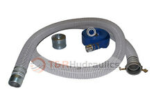 "2"" Flex Water Suction Hose Regular Trash Pump Honda Kit w/50' Blue Disc"