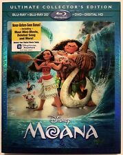 DISNEY MOANA 3D BLU RAY 1 DISC ONLY + LENTICULAR SLIPCOVER SLEEVE NO ARTWORK