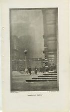 1909 Snow Storm in the City 7x12 Vintage Cityscape Printed Photo