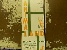Vintage Travel Brochure  - ANIMAL LAND - Zoological Park - from the '60s
