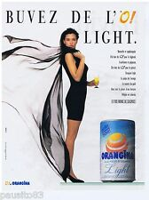 PUBLICITE ADVERTISING 105  1988   ORANGINA LIGHT   boisson soda allégé
